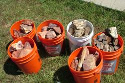 wholesale buckets of lapidary rough